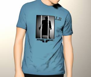 London Boy merchandise T-shirt example of our logo upon a clothing garment